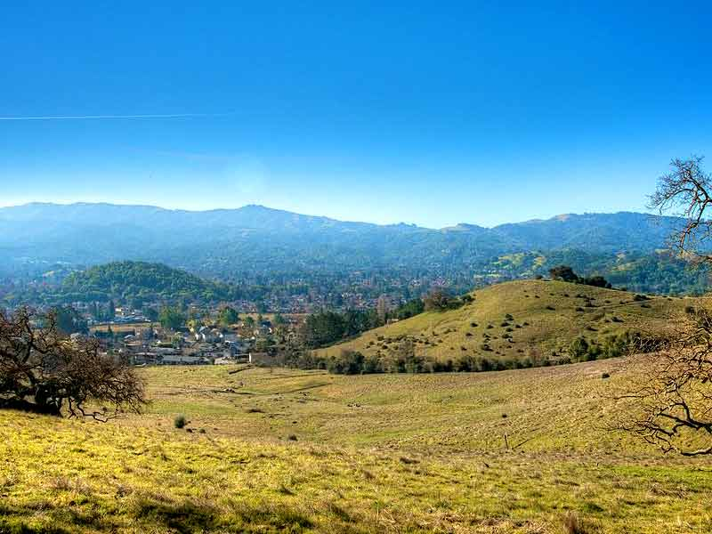 View of Novato from open space (click to enlarge)